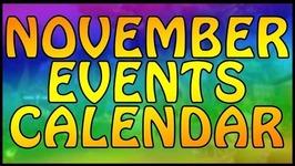 November Events Calendar- Plants vs Zombies Garden Warfare 2