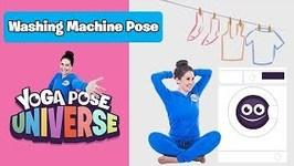 Washing Machine Pose - Cosmic Kids Yoga Pose Universe