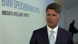 Launch of BMW Battery Storage Farm, Leipzig - Interview Harald Kruger