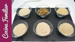 Diferentes tipos de arroz y para que se utilizan
