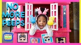 Kyraboo Eats Easter Peeps  Johnny Johnny Yes Papa!! Childrens Nursery Rhymes (skit)