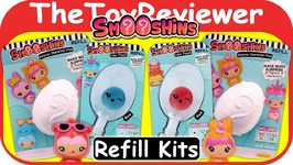 Smooshins Surprise Maker Refill Kits Squishy Girls Dolls Eggs Unboxing Toy Review
