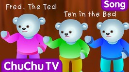 Ten In The Bed Nursery Rhyme With Lyrics - Cartoon Animation Rhymes and Songs for Children