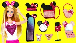 10 DIY Miniature Minnie Mouse Barbie Doll Crafts And Accessories