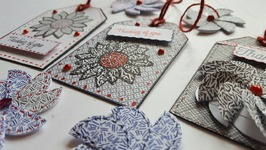 JUNK MAIL PAPER CRAFT -  PAPER FLOWERS - GIFT TAGS