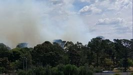 Fire Burns Out of Control in Southeast Melbourne