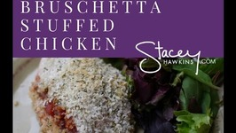 Stacey Hawkins bruschetta stuffed chicken a Lean and Green recipe
