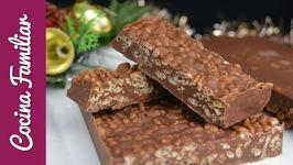 Turron de chocolate crujiente - Recetas de postres para Navidad