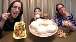 Dim Sum-Pork Buns And Fortune Cookies/Gay Family Mukbang - Eating Show