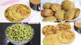Sprouted Mung Or Moong Bean Paratha Bhakri