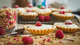 Easy Nutella, Coconut And Raspberry Tarts For Valentine's Day
