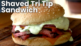 Shaved Tri Tip Sandwich Recipe (On the PK Grill)