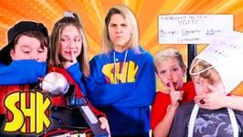 Wishinator Worries with Ethan and Cole! SuperHero Kids Noah Hope & Eden Wish Machine Malfunctions!