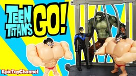 Teen Titans Go Buff Robin Parody  Night Wing And Killer Croc Unboxing