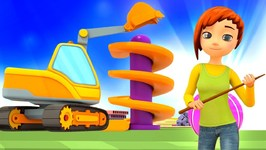 Car School Cartoons Full Episodes: Learn Vehicles for Kids - A Crane Truck for Kids & Excavator