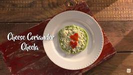 Cheese And Coriander Cheela - How To Make Coriander Cheese Cheela