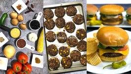 Big Batch Crowd Cooking - The Best Burger - Vegan / Vegetarian / Black Bean