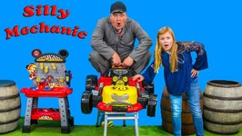 Mickey Mouse And The Roadster Racer Goes To The Silly Mechanic For Pretend Play Fun