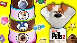 THE SECRET LIFE OF PETS 2 Candy Cake Game w/ Surprise Toys  Candy from Pets 2 Movie