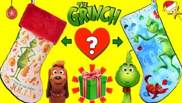 THE GRINCH MOVIE CHRISTMAS STOCKINGS GAME: Find The Grinch's Heart! Surprise Toys