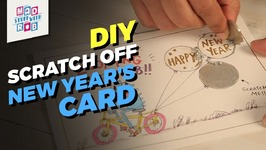 DIY Scratch Off New Years Card