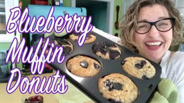 Vegan Blueberry Muffins Baked In Donut Pan