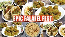 Epic Falafel Fest at Home - Baked Falafel, Hummus And Pita Bread Making