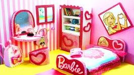 DIY Miniature Doll Bedroom for BARBIE Dolls
