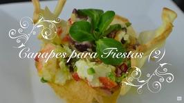 Canapes Para Fiestas 2 / Tartaleta De Salpicon De Mariscos