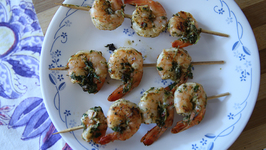 Grilled Prawn With Lemon And Coriander - Grilled Shrimp - My Recipe Book By Tarika Singh