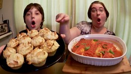 Coconut, Pineapple Muffins And Cheese Cannelloni /Gay Family Mukbang -Eating Show