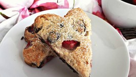 Breakfast Recipe - Chocolate Strawberry Scones