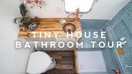 TINY HOUSE TOUR - Perfect Airstream Bathroom