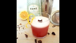 Cocktail Recipe- Hibiscus Gin Sour