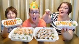 Sushi-Happy Birthday Regina- Gay Family Mukbang- Eating Show