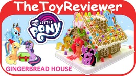 My Little Pony Gingerbread House Kit Christmas Holiday Candy Unboxing Toy Review