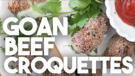 Goan Beef Croquettes - Meat Cutlets - Kravings