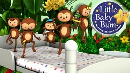 Little Baby Bum - Five Little Monkeys Jumping On The Bed - Part 1 - Nursery Rhymes for Babies