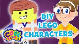 DIY Lego Character - Crafty Carol Crafts - Crafts for Kids - Cool School