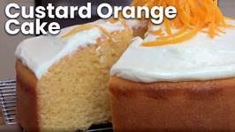 Custard Orange Cake