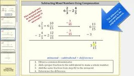 Subtract Mixed Numbers Using The Compensation Method