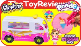 Beados Shopkins Ice Cream Truck Water Beads Playset Aquabeads Unboxing Toy Review