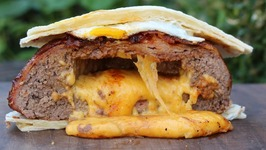 Bacon Pie Quesadilla Burger
