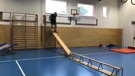 Teenage Skier Prepares for Winter Olympics With Rigorous Indoor Parkour Routine