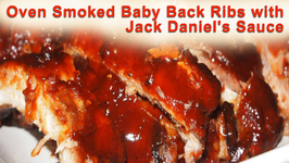 Oven Smoked Baby Back Ribs with Jack Daniel's Sauce
