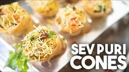 Sev Puri Cones - Updated Street Style Snack