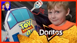 Toy Story 4 Planet Doritos - Forky Woody Buzz - Liam Pretend Play Toy Rocket - Giggle Mcdimples