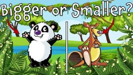 Bigger or Smaller? Wild Animal Guessing Game for Kids