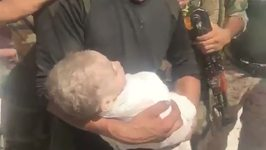 Infant Rescued From Under Rubble in Old Mosul
