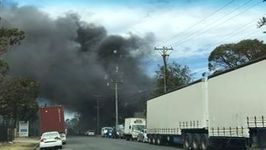 Huge Blaze Erupts From Warwick Farm Industrial Plant